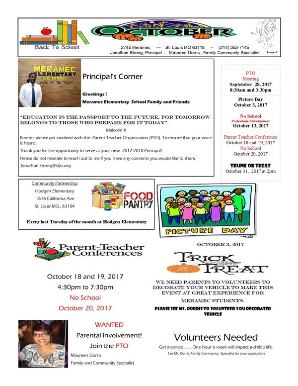 October Newsletter