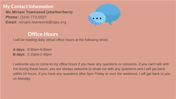 Contact Information and Office Hours