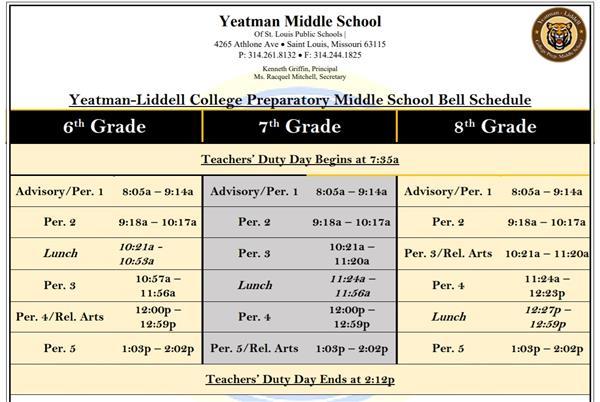 New Building Schedule