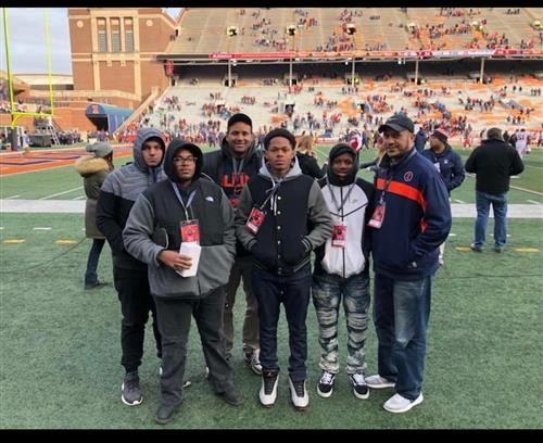 Taking Football Players on a visit to the University of Illinois