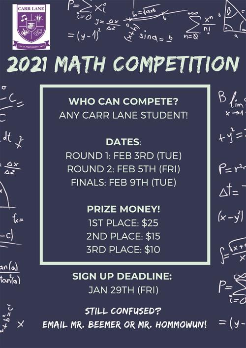 Carr Lane Math Competition