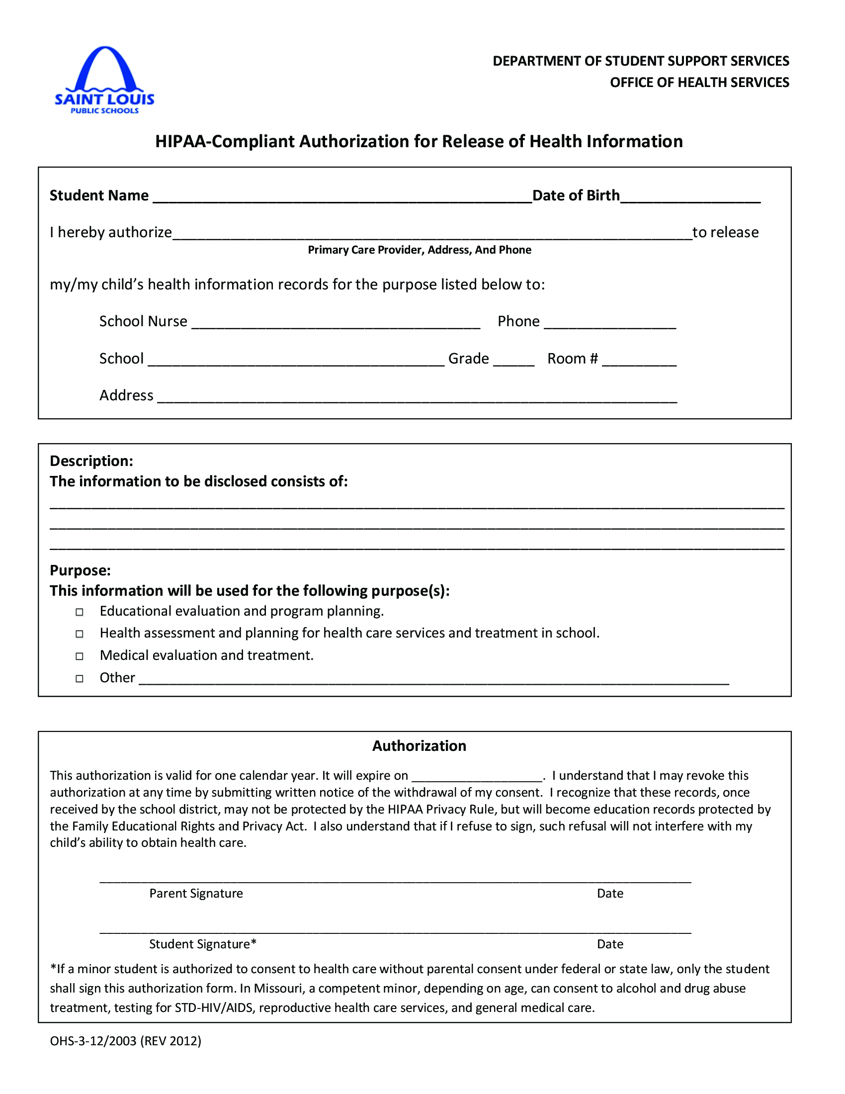 Early Childhood / Returning Pre-K Forms