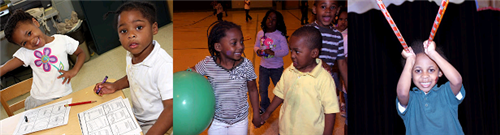 Children celebrating during 2012 Week of the Young Child.