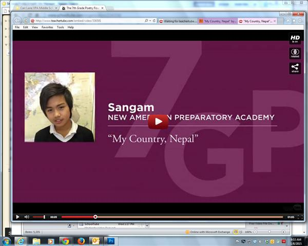 VIDEO: Watch Sangam Read His Poem @ 7th Grade Contest