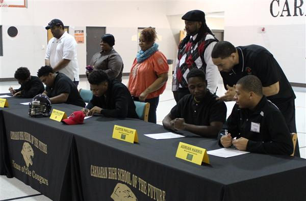 District Football Players Sign Letters Of Intent