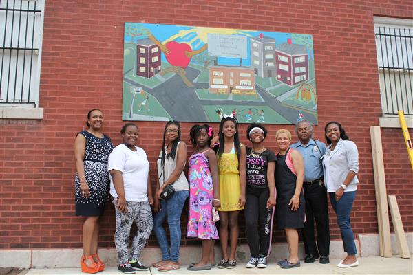 Yeatman-Liddell Students Create Mural for Healthy Living Effort