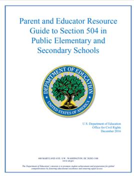 Parent and Educator Guide to 504 Plans