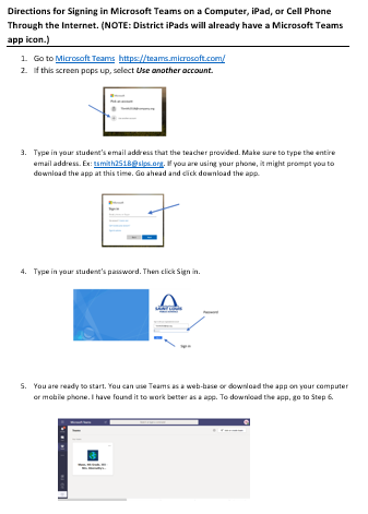 Microsoft Teams Instructions