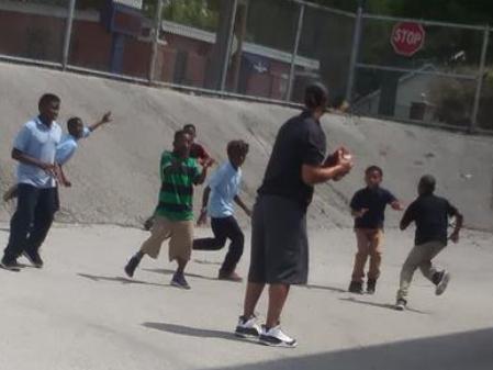 Football at recess