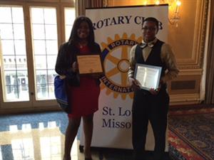 Taylor Howard and Anthony Shahid win 2015 Rotary Club Citizenship Award.